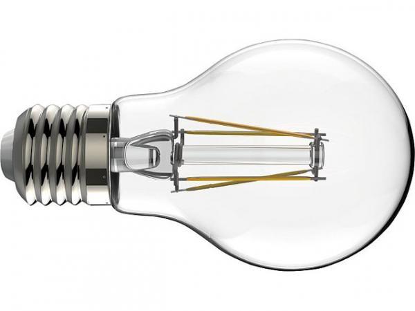 LED Glühlampe Filament AGL klar, 7W, E27, 806lm, 2700K dimmbar
