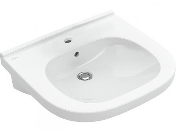 Waschtisch V&B O.Novo Vita mit Überlauf 550x55 mm weiß Hahnloch mittig