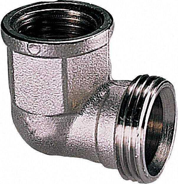 Winkel-schraubverbinder AG x IG 3/4 IG x Eurokonus Messing blank