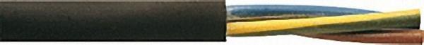 Isolierte Starkstromleitung H05RR-für 2 x 0, 75 / schwarz Rolle a 50m