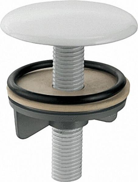 Hahnlochdeckel schwere Ausführung, Kappe weiss d = 50mm