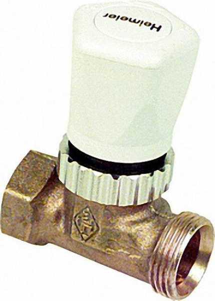 Heimeier 130202000 Vorlauf-Regulierventil DN 15 mit Thermostat Oberteil, Anschluss Rp 1/2 Muffeninne