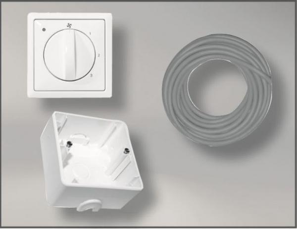 WOLF 2744518Z01-160 Paket Zubehör Anschlußset für CWL DN 160