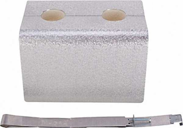 MAGRA Fertigisolierung ZwischenStück für Kesselverteiler Typ F 122-16 mit Alu-Blechmantel