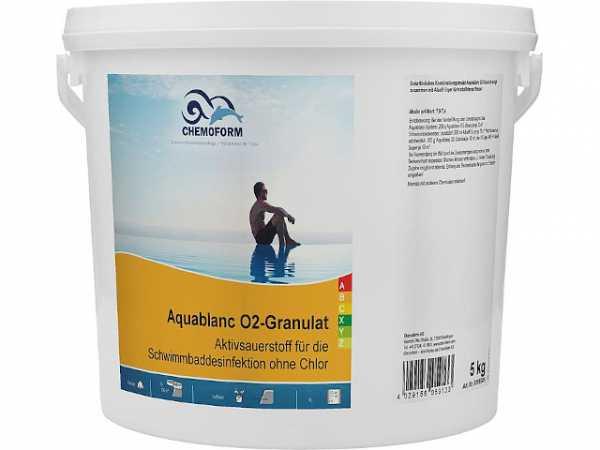 SANIT Aquablanc O2 (ohne Chlor) 5kg Eimer
