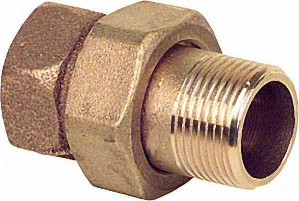 Rotguß-Gewindefitting Verschraubung konisch dichtend Typ 3341 1 1/2'' i/a