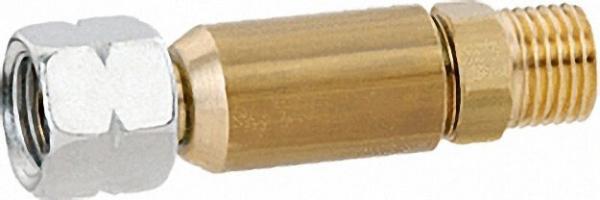 Schlauchbruchsicherung 50 mbar 1, 5 kg/h G1/4 LH-Überwurfmutter x G1/4 LH-KN