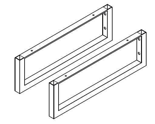 LANZET 7240912 Q4 Set 4-Kantrohrträger, HTH, +Befestigungsmaterial