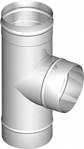 EVENES Einwandiges Abgassystem T-Stück 87° DN 130 x 0,6