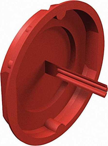 Signaldeckel Unterputz, D=60mm Typ UG 60 SD, rot / VPE 50 Stück