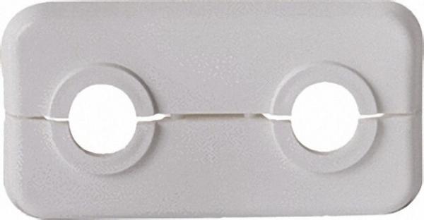 Klapprosetten, doppelt PP, weiß, VPE 10 LxBxH= 95 x 50 x 7mm, D= 15mm