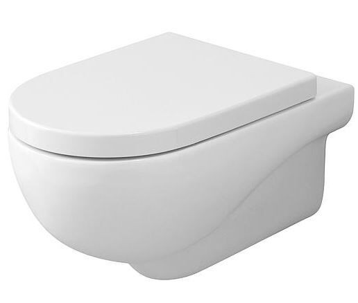 Wand-Tiefspül-WC Nuvola aus Keramik, spülrandlos, weiß, BxHxT:350x335x550mm
