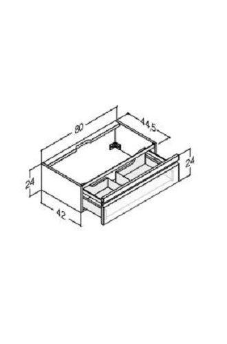 DANSANI Waschtischunterbau 80 cm, 1 Schublade