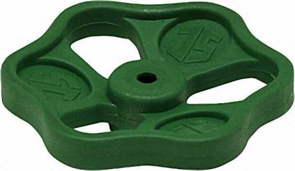 SCHLÖSSER Ventil-Handrad grün Polyamid 60 x 7