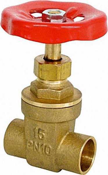 Absperrschieber PN10 mit Lötanschluss 28mm