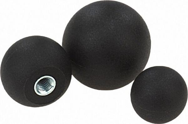 Kugelknopf mit Kunststoffgewinde Innengewinde M 4 Form C d= 16mm