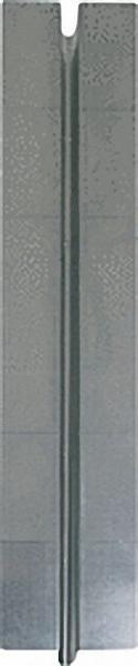 Trockenbau Wärmeleitbleche, 37, 5 m aus verz. Stahlblech für Rohr 14mm L=750mm, B=120mm, Dicke 0,4mm