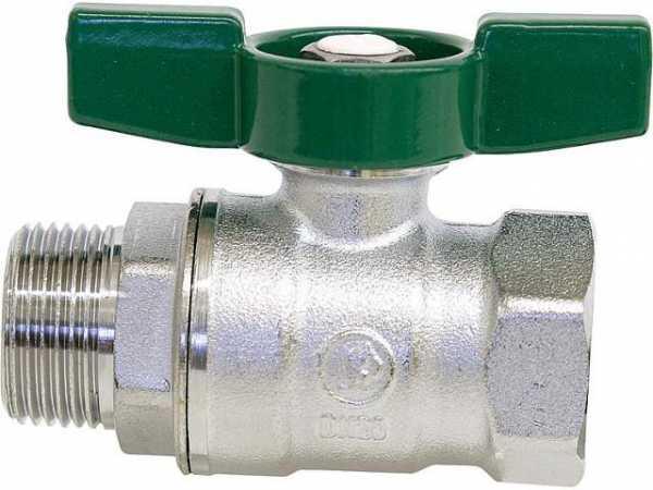 Giacomini R254WX026 Trinkwasser-Kugelhahn R254D IG/AG 1 1/4' Messing verchromt/Flügelgriff