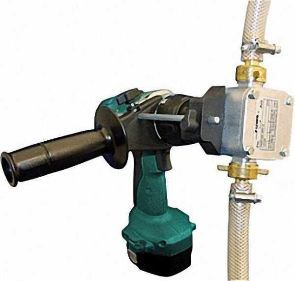 UNISTAR 2001-A Impellerpumpe mit Adapter für Bohrm. Pumpe max. 30 L/Min., max 4 bar