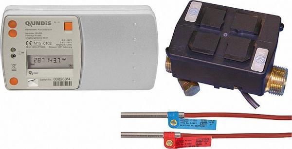 QUNDIS Spitt-Wärmezähler G 03 mit 6-Jahresbatterie mit Ultraschall-Volumenmessteil