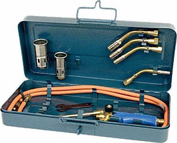 Propan-Garnitur zum Hartlöten mit Aufbewahrungskasten