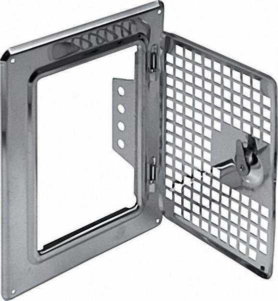 Rahmen mit Lüftertüre komplett RV 140/200-LG aus Edelstahl mit Schlüssel, Bauart geprüft