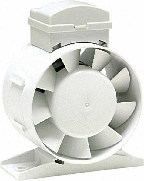 Rohr-Ventilator Typ TEF-100 Einbau in Rohre NW100