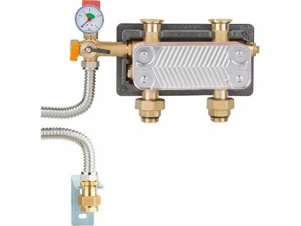 Systemtrennung HeatBloc DN25 2x1'AG - 2xF1' 3 bar Si-Grp MAG-Anschluss 25kW