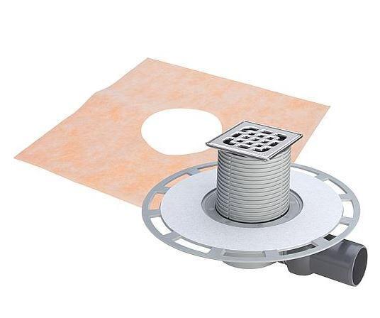 VIEGA Badablauf 4939 aus Kunststoff grau