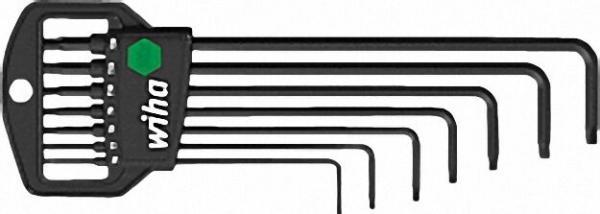 Torx Stiftschlüsselsatz im Halter MagicSpring, manganphosphatiert 7-teilig, Typ 366R HM7