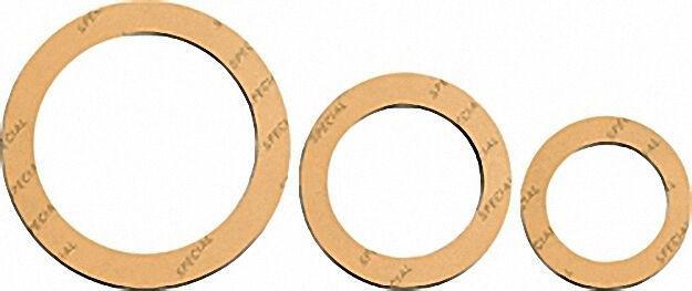 Spezial-verschraubungs-dichtung 3/8'' 19 x 27mm 2mm stark/ gelb, VPE 2