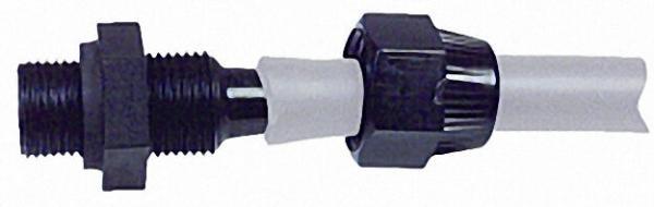 Schlauchverschraubung Kunststoff mit ölbeständiger Gummidichtung R3/8'' AG