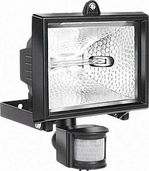 Außenleuchte 500 IP 44 mit Bewegungsmelder, 400 W Farbe: Schwarz
