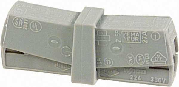 WAGO -Service Klemme grau 0, 5 - 2, 5 qmm 1 Beutel 50 Stück