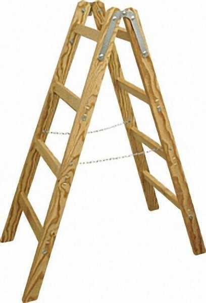 Holz-Stehleiter 2 x 4 Sprossen