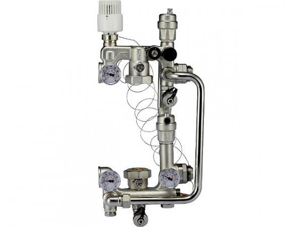 Fußboden Temperaturregeleinheit Combimix 1 für Pumpen-Baulänge 130 mm, mit Bypass