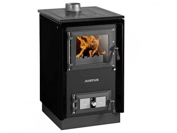 JUSTUS Festbrennstoffherd Rustico-50 2.0, schwarz