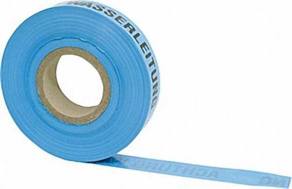 Trassenwarnband ''Achtung Wasserleitung'' blau