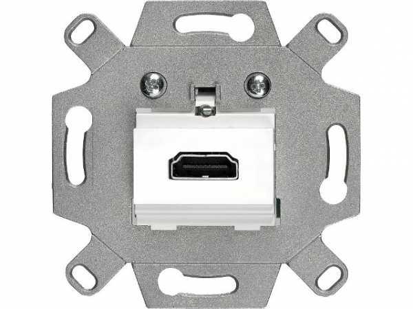 HDMI-Anschlussdose Siemens, Schraubklemmen weiß, 5TG2020-0