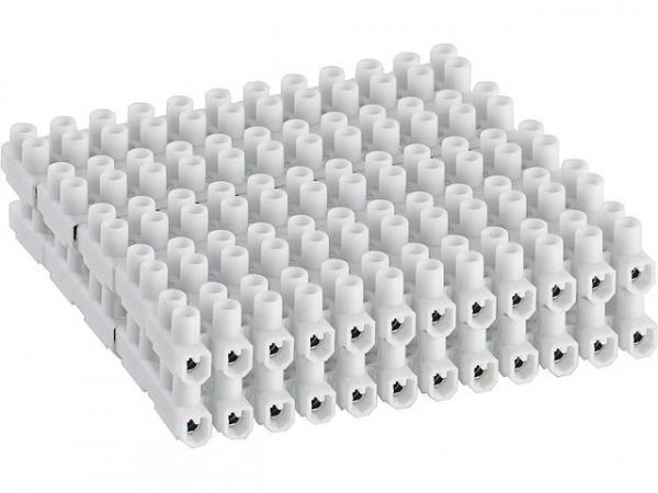 Lüster-Klemmleiste PVC 12 tlg,2,5mm² (starrer Draht) 1 Beutel 10 Stück