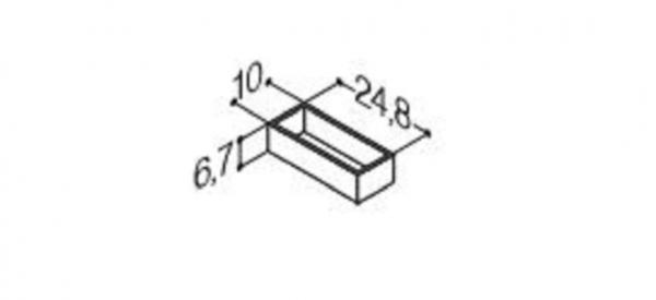 DANSANI 305211016 Kassette, 10 cm, Tiefe 24,8 cm