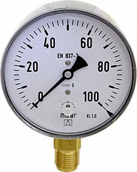 Kapselfedermanometer KP 100.1 0-25 mbar