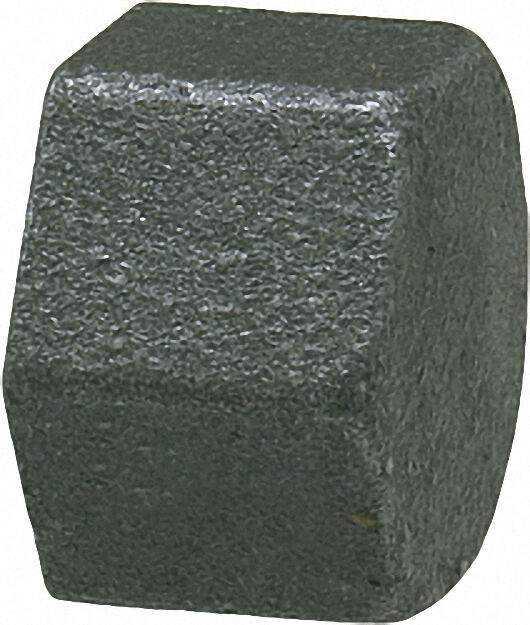 Tempergussfitting, schwarz Kappe 3/4'' Typ 300, kantig