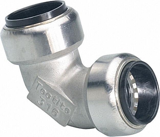 Edelstahl-steckfitting Winkel 90° (i/i) 35mm