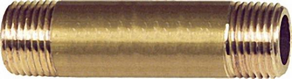 Doppelnippel-Messing 1''x130