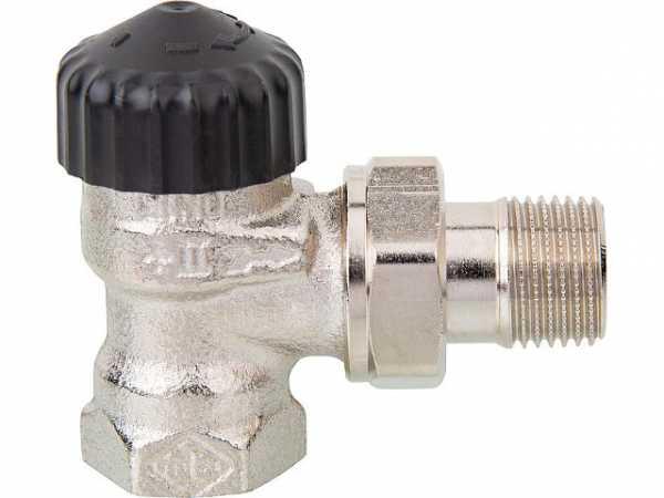 Heimeier 2201-02.000 Thermostatventil Rotguß vernickelt R 1/2''Eckform
