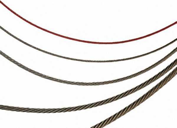 Rundlitzenseile DIN 3055 6 x 7 mit Fasereinlage, verzinkt Durchmesser 4mm / 25 m
