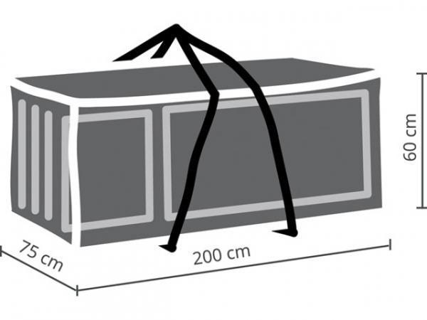 Schutzhülle für Gartenmöbel 200x75x60 cm Abdeckung für Gartenkissen OCLCB-XL Polypropylen