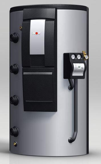 WOLF 8611622z02 Schichtenspeicher BSP-W1000 mit einem Glattrohr-Wärmetauscher