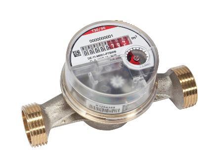 Wohnungswasserzähler DN20 3/4'' 130 mm Q3 4 m3/h S110 PICOFLUX EP, Pulszählwerk 90°C Warmwasser inklusive Eichgebühr